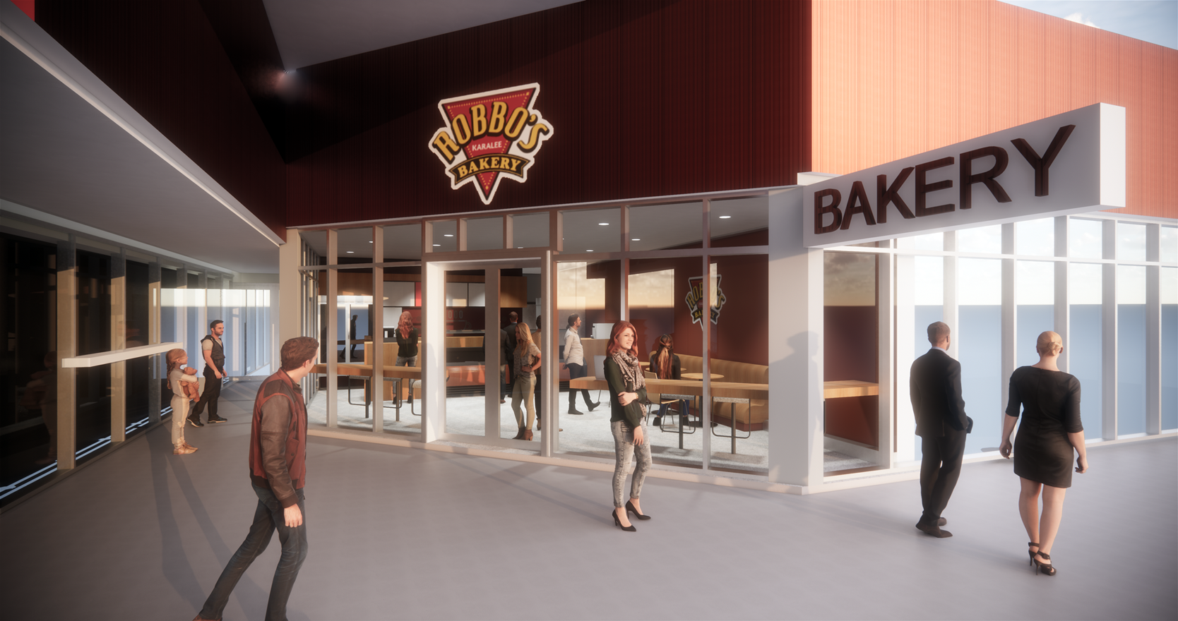 Robbo's Bakery Concept by Birchall & Partners Architects